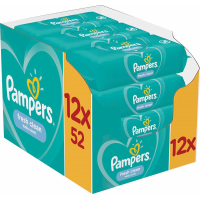 PAMPERS FRESH CLEAN WIPES 52S PK12