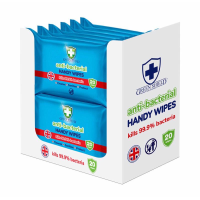 GREEN SHIELD ANTIBAC HANDY WIPES 20s PK12