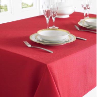 COUNTRYCLUB TABLECLOTH LINEN LOOK RED