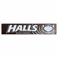 HALLS EXTRA STRONG MENTHOL ACTION 33.5G PK20