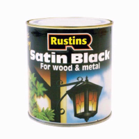 RUSTINS BLACK SATIN 500ML