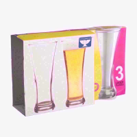 ESSENTIALS LAGER GLASS  PK3