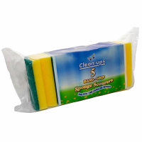 SUPERBRIGHT CLEAN UP SPONGE SCOURER 5S PK10