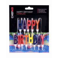 CHEF AID HAPPY BIRTHDAY CANDLES W11483