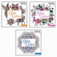 COLOUR THERAPY ADULT COLOUR BOOK PK12 july