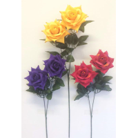 CARNIVAL ROSE SPRAY SINGLE STEM MIX COLOURS