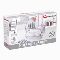 PRO DISH RACK 2TIER SILVER