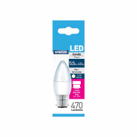 STATUS LED BC CANDLE PEARL C/W 5.5W EACH