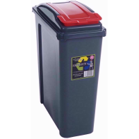 WHAM RECYCLE BIN 25LTR RED