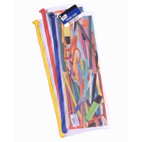 JUST STATIONERY PENCIL CASE CLEAR 13INCH