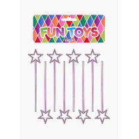 PARTY TIME FUN TOYS WAND SILVER 8PC