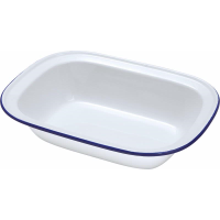 ENAMEL 30CM OBLONG PIE DISH each
