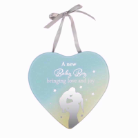 HEART MIRROR PLAQUE BABY BOY