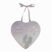 HEART MIRROR PLAQUE BABY GIRL