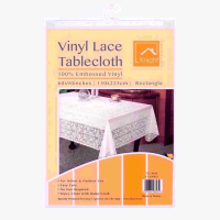 KNIGHT VINYL LACE 60X90 RECT TABLE COVER