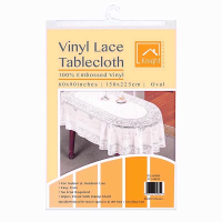VINYL LACE 60X90 OVAL TABLE COVER
