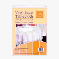 KNIGHT VINYL LACE 54IN ROUND TABLE COVER