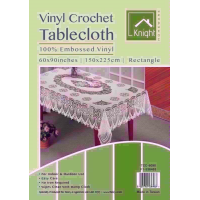 KNIGHT VINYL CROCHE 60X90 RECT TABLE COVER