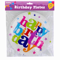 TIME TO PARTY GENERIC BIRTHDAY PLATES 12PC