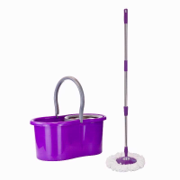 EASY MOP BUCKET SET PURPLE & GREY RIM
