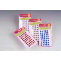 COLOURERED STAR STICKERS 200PC