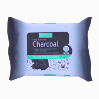 BF WIPES 25S CHARCOAL FACIAL PK12