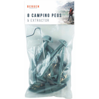 CAMPING PEGS AND EXTRACTOR 9PC