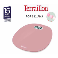 TERRAILLON BATHROOM SCALE POP FIRST PINK