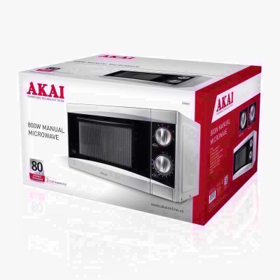 AKAI 800W SILVER MANUAL MICROWAVE